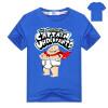 Captain Underpants Boys 'Short Sleeve T-Shirt Kids Cartoon Superman Одежда Летние хлопковые топы и тройники для девочек Мальчики К