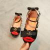 Детская обувь 2018 Весна Pearl Bow Дети Обувь Девушки Обувь Pu кожаные сандалии Детская обувь