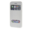MOONCASE Apple iPhone 6 Plus ( 5.5 inch ) чехол Double Window View Leather Flip Bracket Back чехол Cover White roar korea noble leather view window stand case for iphone 7 4 7 inch white