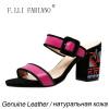 Компания F. lli.ФАБИАНО сандалии женские сандалии Itaria Стиль высокие каблуки с китайского уникальные вышивки сандалии X2127--01L мягкие сорта Дженуин сандалии alba сандалии