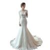 полное свадебное платье с длинными рукавами с длинными рукавами