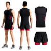2018 новый жилет спортивный костюм мужская фитнес-одежда быстросохнущий жилет костюм жесткие дышащие баскетбольные костюмы