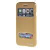 MOONCASE Apple iPhone 6 Plus ( 5.5 inch ) чехол Double Window View Leather Flip Bracket Back чехол Cover Gold roar korea noble leather view window case for iphone 7 plus 5 5 inch black