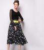 Lovaru ™Осенние новый женская мода ландшафтный дизайн пачки юбки талии Тонкий юбки lovaru ™ женские осенние 2015 новый цветок пояса талии юбки туту юбки hiqh доставленных