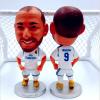 5 PC Soccerwe Футбольная звезда куклы Zidane Raul C. Philippine Мосс Белл Бензема Футбол Кукольная модель Мини Статуя