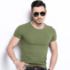 Новая весна моды Марка O-Neck Slim Fit с коротким рукавом Футболка Мужчины тренд Повседневная мужская футболка Корейские майки slim fit basic blazer