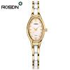 ROSDN Brand Women Rose Gold Watch Роскошные хрустальные сапфировые женские керамические браслеты из кварцевого стекла Водонепрониц