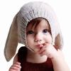 С ушами кролика выкройка шапка серая шерстяная вязаная шапка детский мультфильм сфотографировать оформленные ежедневно теплой зимней одежды аксессуары