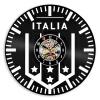 Настенные часы Италия Футбольная команда Виниловые часы с часами Футбол Обои для стен Домашние декораторы Подарки для мужчин декор для стен