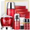 Olay Olay Fresh Essence Firming Gift Set 6шт (красная бутылочная крем 50 г + жидкая вода 150 мл + очищающее средство 120 г + крем для глаз 15 мл + маска 2шт) элидел крем 1% 15 г