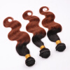 Ombre Cheap Black Weft Body Wave Brazilian Hair Bundles for Sale 8A Best Quality Real Virgin Hair Extension 5 Pcs DHL Free Ship 5 pcs leaf hair accessory