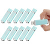 Fillinlight 10PCS Pack Light Blue Rectangle Lighter Shape USB Flash Drive USB 2.0 Pen Drive Flash Drive s02 cj6414 notebook style usb 2 0 flash drive w retro drawer box light grey 4gb