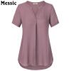 Timeson 2018 Летние женские блузки V-образным вырезом с коротким рукавом шифон блузки с короткими рукавами с длинными рукавами блузки fronzoli блузки