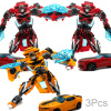 Top Sale 18.5cm New Arrival Big Classic Deformation Plastic Robot Cars Action Toy Figures Kids Education Toy Gifts big plastic crowbar