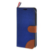 MOONCASE Alcatel One Touch POP C7 , Leather Flip Card Holder Pouch Stand Back ЧЕХОЛ ДЛЯ Alcatel One Touch POP C7 Dark blue смартфон alcatel one touch idol 4 6055k dark gray