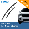 SUMKS Wiper Blades for Nissan Micra 21&14 Fit Hook Arms 2010 2011 2012 2013 2014 2015