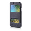 MOONCASE View Window High grade Leather Side Flip Pouch Stand Shell Back ЧЕХОЛДЛЯ Samsung Galaxy E7 Blue mooncase view window high grade leather side flip pouch stand shell back чехолдля samsung galaxy e5 e500 hot pink