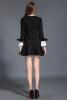 2015 осенью теплую одежду нового элегантное платье ветер кружева, изготавливающих слим был тонкие длинные рукава платье черное платье элегантное черное платье где