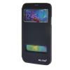 MOONCASE Samsung Galaxy S5 I9600 чехол для View Slim Leather Flip Pouch Bracket Back Cover Sapphire для samsung galaxy i9600 s5 g900h жилищем задней части средней рамки шатона объектива камеры
