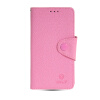 MOONCASE Classic cross pattern Leather Side Flip Wallet Card Slot Pouch Stand Shell Back ЧЕХОЛДЛЯ Samsung Galaxy A5 Pink