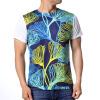 Мужская мода Пуловеры Топы Лотос лист Печатные футболки с короткими рукавами топы и футболки