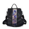 Фото HANEROU Модные женские кожаные рюкзаки Красочные блестки Маленькие школьные сумки для подростков Подросток Повседневный PU Daypacks Элегантная женская сумка