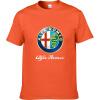 Alfa Romeo Футболки для мужчин Футболка Модные бренды Футболка Мужские повседневные Короткие рукава Футболка Punisher Футболка 100 футболка незнакомка футболка