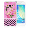 MOONCASE Flowers Soft Flexible Silicone Gel TPU Skin Shell Back ЧЕХОЛ ДЛЯ Samsung Galaxy A3 mooncase s line soft flexible silicone gel tpu skin shell back чехол для htc one m9 blue