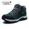 плейбой бренд открытый восхождения, высокая крыша, бархат, теплый, скольжения и аксессуары, мужские ботинки