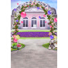 Happy Gate Background 5 * 7FT Vinyl Fabric Cloth Цифровая печать Photo Studio Backdrop S-3054