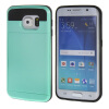 все цены на MOONCASE ЧЕХОЛДЛЯ Samsung Galaxy S6 Edge Soft Silicone Gel TPU Skin With Card Holder Protective Azure онлайн