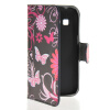 MOONCASE Butterfly style Leather Side Flip Wallet Card Slot Stand Pouch чехол для Samsung Galaxy Ace Style LTE G357