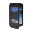 MOONCASE View Window Leather Side Flip Pouch Stand Shell Back ЧЕХОЛ ДЛЯ Samsung Galaxy S Duos S7562 Blue mooncase soft silicone gel side flip pouch hard shell back чехол для samsung galaxy s6 black