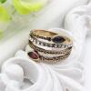 Классический Ретро Турецкое кольцо Трава Зерно Античная Позолоченная Смола Полая Вырезать Кольца Индийские Женщины Свадебные Украш