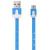 Micro USB кабель клещ Moqi Si / зарядный кабель / кабель Эндрюс синий источник питания линия для Samsung 2.26 м / Huawei / проса кабель red line classic micro usb 2м белый