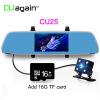 CU25 DVRS FHD 1080P Автомобильная камера Двойной обзор объектива Зеркало G-Sensor Движение Обнаружение парковки Зеркало Регистратор видеорегистратора