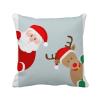 рождество санта - клауса лось пип площадь бросить подушку включить подушки покрытия дома диван декор подарок лазарева и лось в облаке