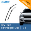 SUMKS Wiper Blades for Peugeot 308 ( T9 ) 24&18 Fit Push Button Arms 2014 2015 2016 2017