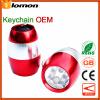 Mini LED Portable Flashlight camping Key chain Handy Pocket Torch 6 LED Lights key Ring Keyring Torch Camping Carabiner