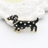 Lucky Zodiac Animal Famous Spotted Dog Brooch Pin Up для женщин Rhinestone Enamel Броши для животных Броши Кристалл Ювелирные шпил робот zodiac ov3400
