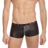 Горячие Charms Mens Underwear Faux Leather G-string Мужские боксеры Jockstrap Trunks Женское нижнее белье Застежка-молния