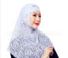 Цянь Сюй Мусульманские платки Исламский футболка с черными трусами женщин черного тюрбана сразу покрыл весь мусульманский платок в платки piero платки