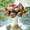 Ванкер Свадебное партии фестиваль Рождество Искусственный Пион Шелковый цветок украшения Букет Камея