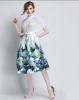 цены на Lovaru ™ женские осенние 2015 новый цветок пояса талии юбки Туту юбки Hiqh доставленных в интернет-магазинах