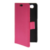 MOONCASE Slim Leather Flip Wallet Card Pouch with Kickstand Shell Back ЧЕХОЛДЛЯ Sony Xperia A2 Hot pink mooncase чехол для sony xperia m4 aqua wallet card slot with kickstand flip leather back hot pink