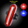 100 LM перезаряжаемый COB LED USB горный велосипед хвост света MTB безопасности Предупреждающая велосипедная лампа