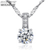Фото MSXNEOW 925 Sterling-Silver Pendants Necklace for Women Fine Jewelry Christmas Gift Engagement Silver Jewelry for Women SN0042