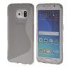 MOONCASE S - линия Мягкий силиконовый гель ТПУ защитный чехол гибкой оболочки Защитный чехол для Samsung Galaxy S6 Edge Серый
