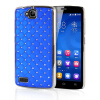 MOONCASE Hard Chrome Plated Star Bling Back ЧЕХОЛ ДЛЯ Huawei Honor 3C Blue mooncase hard chrome plated star bling back чехол для samsung galaxy a7 azure