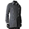 CT&HF Мужчины Темперамент Элегантный Пальто Pure Color шерстяные пальто лацканы Классический двубортный пиджак Зима утолщение тонкий пальто пальто